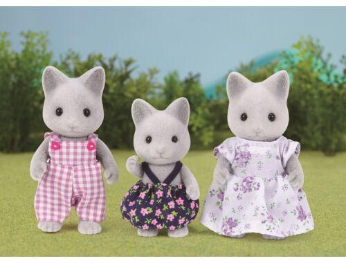Sylvanian Families szürke cica család 3 fővel (SLV5130)