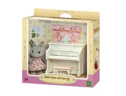Sylvanian Families nyuszi lány zongorával (SLV5139)