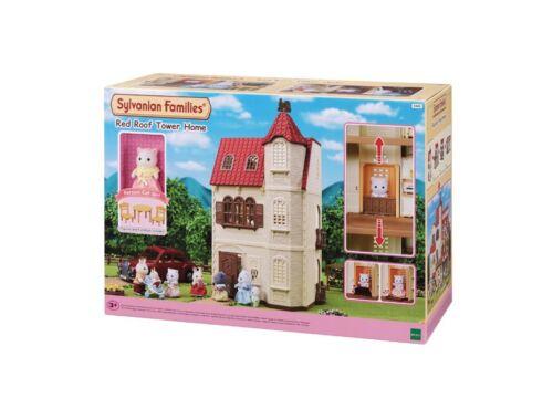 Sylvanian Families piros tetős, emeletes, tornyos ház (SLV5400)