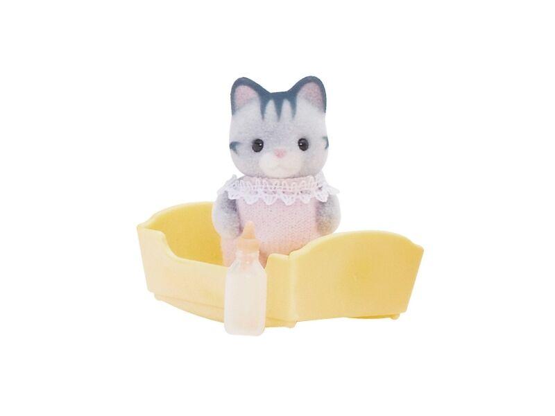 Sylvanian Szürke cica bébi