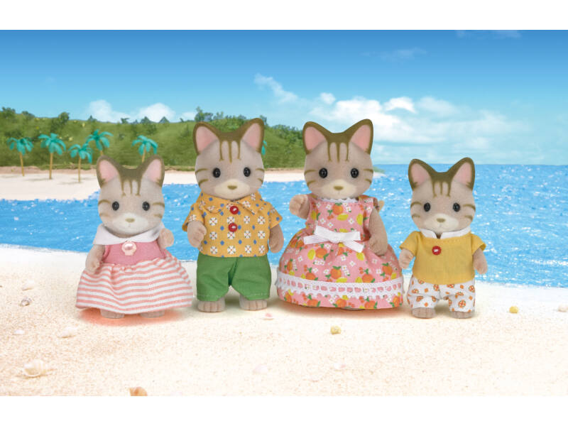 Sylvanian Csíkos cica család